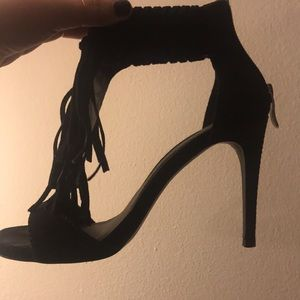 Black Heels with fringe (Chinese laundry)